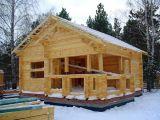 Строительство деревянной бани зимой