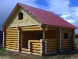 Строительство деревянной бани из бревна
