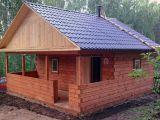 брусовая деревянная баня