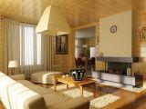 Внутренняя отделка в деревянном доме из бруса
