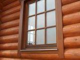 Окна для дома из оцилиндрованного бревна