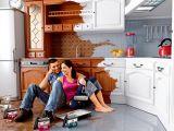 Ремонт кухонной мебели: реставрация фасадов