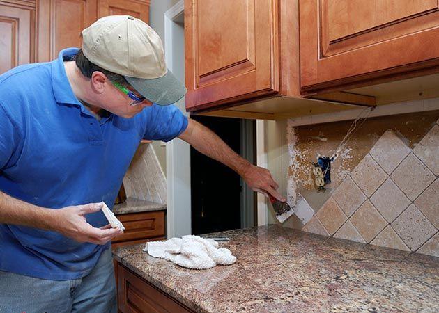 Недорогой ремонт на кухне своими руками фото