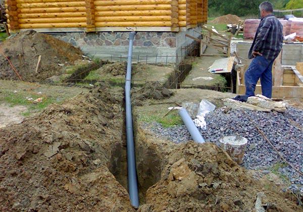 Прокладка канализация в частном доме своими руками 487