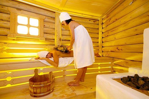 Порная баня из бревна