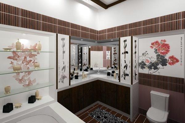 Ванная в китайском стиле фото