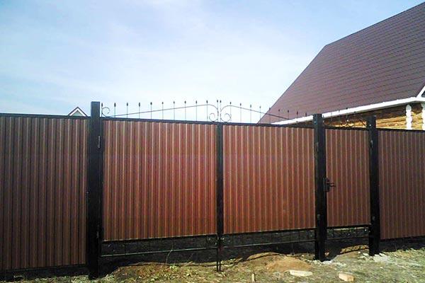 Ворота из металлопрофиля распашные своими руками